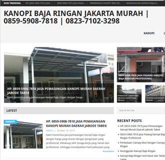 contoh website baja ringan